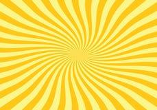 Fondo giallo ed arancio dello starburst Fotografia Stock