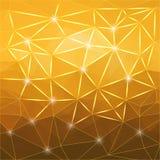 Fondo giallo geometrico astratto moderno Fotografia Stock Libera da Diritti