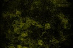 Fondo giallo scuro della parete di lerciume Fotografia Stock Libera da Diritti