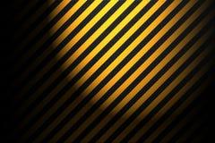 Fondo giallo a strisce astratto Immagini Stock