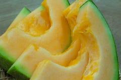 Fondo giapponese della frutta dello scorrevole del melone Immagine Stock