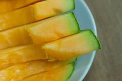 Fondo giapponese della frutta dello scorrevole del melone Fotografie Stock Libere da Diritti