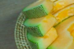 Fondo giapponese della frutta dello scorrevole del melone Fotografia Stock