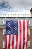 Fondo gigante di stelle e strisce della bandiera americana degli S.U.A. Immagine Stock Libera da Diritti
