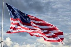 Fondo gigante di stelle e strisce della bandiera americana degli S.U.A. Fotografie Stock Libere da Diritti
