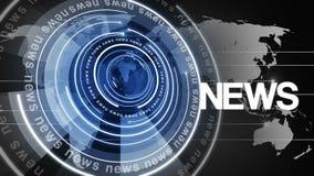 Fondo girante 4k di notizie del globo del cerchio stock footage