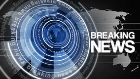 Fondo girante 4k di ultime notizie del globo del cerchio illustrazione di stock