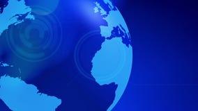 Fondo giratorio del globo del mundo del negocio ilustración del vector
