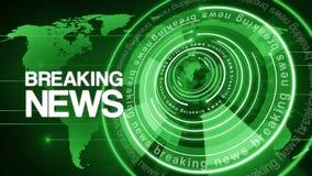 Fondo giratorio 4k de las noticias de última hora del globo del círculo
