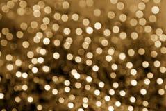 Fondo glittery de la falta de definición del oro Fotos de archivo libres de regalías