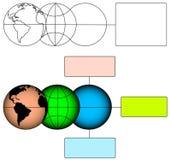 Fondo global de la evolución stock de ilustración