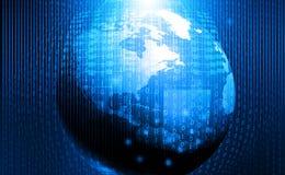 Fondo global de la tecnología stock de ilustración