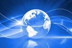 Fondo global de la tecnología Imágenes de archivo libres de regalías