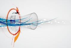 Fondo global del negocio del concepto de la informática del infinito Imagen de archivo libre de regalías