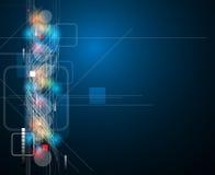 Fondo globale di affari di concetto di tecnologie informatiche di infinito illustrazione vettoriale