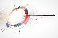 Fondo globale di affari di concetto di tecnologie informatiche di infinito Fotografie Stock Libere da Diritti
