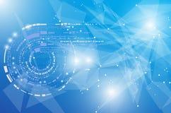 Fondo globale di affari di concetto di tecnologie informatiche di infinito Fotografia Stock Libera da Diritti