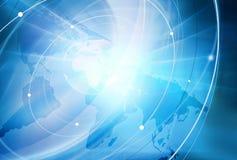 Fondo globale di connettività Fotografia Stock Libera da Diritti