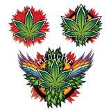 Fondo gráfico de la textura de la marijuana de la medicina Fotos de archivo libres de regalías