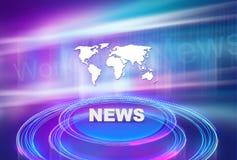 Fondo gráfico de las noticias con la plataforma 3d ilustración del vector