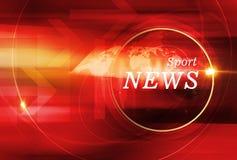 Fondo gráfico de las noticias del deporte con la llamarada de la lente ilustración del vector
