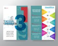 Fondo gráfico del estilo suizo abstracto para la plantilla del vector de la disposición de diseño del cartel del aviador de la cu Imágenes de archivo libres de regalías