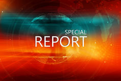 Fondo gráfico del informe especial con el globo de la tierra en fondo Imágenes de archivo libres de regalías