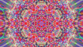 Fondo grafico caleidoscopico dipinto variopinto astratto Modello ipnotico psichedelico futuristico del contesto con struttura Fotografia Stock Libera da Diritti