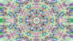 Fondo grafico caleidoscopico dipinto variopinto astratto Modello ipnotico psichedelico futuristico del contesto con struttura Fotografie Stock