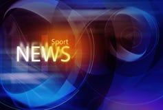 Fondo grafico di notizie di sport Fotografia Stock Libera da Diritti