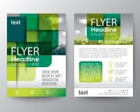 Fondo grafico quadrato rotondo verde astratto per la disposizione di progettazione del manifesto dell'aletta di filatoio della co illustrazione vettoriale