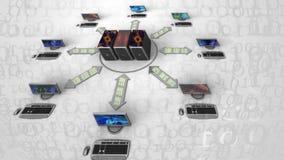 Fondo grande abstracto de los datos Información digital del ejemplo grande de los datos Secuencia de datos Fondo abstracto del bi ilustración del vector