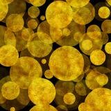 Fondo grande de Dots Faux Foil Metallic Black del oro Foto de archivo