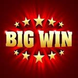 Fondo grande de la bandera del triunfo para los juegos de la lotería o del casino Imágenes de archivo libres de regalías