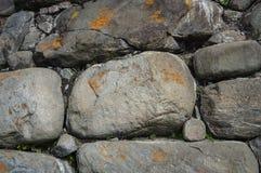 Fondo grande de la pared de piedras Fotografía de archivo