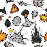 Fondo grande de las explosiones Imagen de archivo libre de regalías