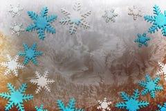 Fondo grande de los cristales de la nieve stock de ilustración