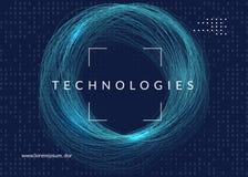 Fondo grande de los datos Tecnología para la visualización, la inteligencia artificial, profundamente aprender y la computación d libre illustration