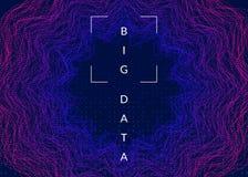 Fondo grande de los datos Tecnología para la visualización, la inteligencia artificial, profundamente aprender y la computación d ilustración del vector
