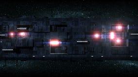 Fondo grande 2 del movimiento del vehículo espacial libre illustration