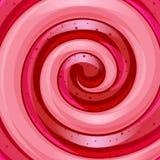 Fondo grande rojo y rosado del caramelo del espiral de la piruleta Fotos de archivo libres de regalías