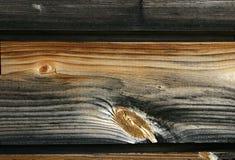Fondo - grano y nudos de madera Imagen de archivo libre de regalías