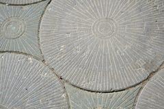 Fondo Gray Paving Slabs - modello del cerchio immagini stock libere da diritti