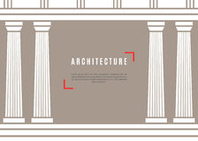 Fondo greco del tempio di architettura Immagini Stock Libere da Diritti