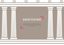 Fondo griego del templo de la arquitectura Imágenes de archivo libres de regalías