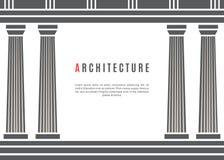 Fondo griego del templo de la arquitectura Fotografía de archivo libre de regalías