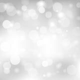 Fondo grigio astratto con una sfuocatura della luce bianca illustrazione vettoriale