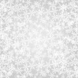 Fondo grigio astratto di Natale con i fiocchi di neve bianchi royalty illustrazione gratis