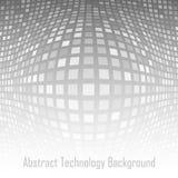 Fondo grigio astratto di tecnologia illustrazione di stock