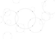Fondo grigio astratto di tecnologia con i cerchi Fotografie Stock